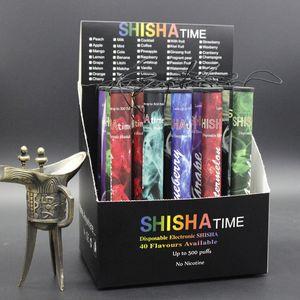 E ShiSha Hookah Pluma Cigarrillo Electrónico Desechable Pipe Pen Cigarro Jugo de Fruta E Cig Stick Shisha Tiempo 500 Puffs Colorful DHL Envío gratis