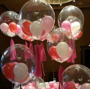 Palloncini trasparenti con bolle bobo da 36 pollici Matrimonio Natale Compleanno Cervo addio al nubilato Decor palloncini trasparenti Decorazioni per eventi festivi