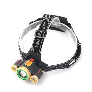 ساني 1 * كري xm-l t6 + 2 * r2 الصمام العلوي كشافات تعديل التركيز قابلة للشحن أضواء رئيس مصباح للخارجية التخييم التنزه