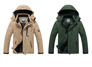 높은 - 품질 야외 남자 재킷 스키 등반 따뜻한 windproof 의류 크기 (M-5XL)