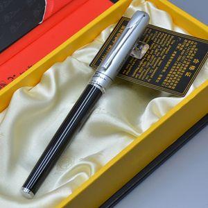 أعلى درجة الفرنسية بيكاسو العلامة التجارية الأسود والفضي / الذهبي كليب نافورة القلم الكلاسيكي مع اللوازم المكتبية التجارية الفاخرة كتابة قلم حبر ناعم