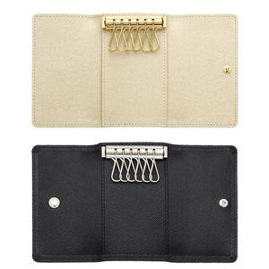 2017 En Gros boîte d'origine de luxe multicolore portefeuille court six porte-clés femmes hommes classique fermeture à glissière poche porte-clés livraison gratuite 62630