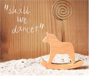200pcs Cute Animal Design Legno Memo Holder Legno Biglietto da visita Holder Nota Fotografia Holder SchoolOffice Fornitore Desk Accessori ZA0913