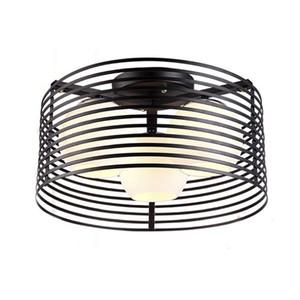 OOVOV Siyah Beyaz Yuvarlak Demir Yatak Odası Tavan Işıkları Çalışma Odası Restoran Balkon Giriş Cam Tavan Lambaları