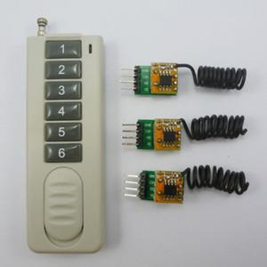 Super Small 6 botones RF Control remoto inalámbrico 3 piezas 2 canales Receptor 433MHz