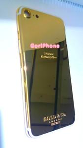 24 K Chapeamento De Ouro edição real dubai Back Habitação Tampa Da Pele Da Bateria Da Porta Para o iphone 7 7 + Alta Qualidade 24 K Real Ouro Telefone de Volta Habitação