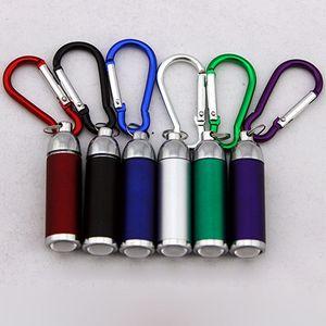 2017 nouvelle arrivée mode LED lampe de poche porte-clés lampe de poche télescopique extérieur sport alpinisme boucle coloré porte-clés LED