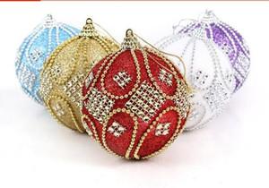 Nuovo design Albero di Natale Appeso Perline Sfere a catena Diametro 8 cm Decorazioni esclusive Sfera di cristallo Natale Festa a casa Ornamento di nozze