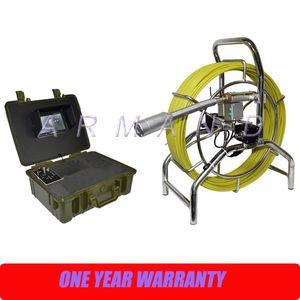 Endüstriyel Boru Kanalizasyon Drenaj Sıhhi Tesisat Muayene Kameraları Endoskop 40mm Kendinden tesviye DVR Fonksiyonu 60 m kablo / 200 ayak