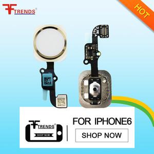 per iPhone 6 Home Button Flex Cable Ribbon Assembly Parti di ricambio di ricambio di alta qualità Black Gold Silver 100% testato