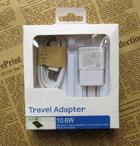 Kits de chargeur 2 en 1 USB 2.0 Adaptateur de chargeur mural Plug / UE pour Samsung S4 S3 S5 S6 Smart phone COPY