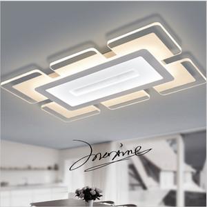 Sky City ultrafina de acrílico llevados modernos lámparas de techo de salón dormitorio Sala de Estudio diciembre casero llevó la lámpara de techo