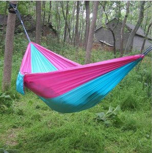 Double person hammock Portable Lightweight 2 Person Parachute Hammock With Nylon Rope Hammocks For Hiking Travel Backpack