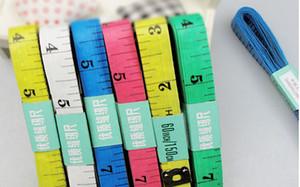 500 unids Cuerpo Cinta Métrica Longitud 150 cm Regla Suave Coser Herramienta de Regla de Medición de Sastre Niños Regla de Tela calidad superior Medida de Cinta Adhesiva cinta