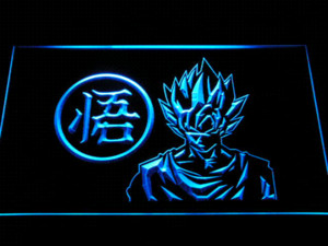 g256 Dragon Ball Z GT Super Saiya Son Goku LED Luce al neon Sign Cheap sign in vinile