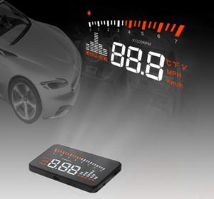 """Voiture Auto HUD X5 3 """"Universel Auto Voiture HUD Head Up Affichage X3 Survitesse Avertissement Pare-Brise Projet Système D'alarme OBD2 OBD II EOBD Interface"""