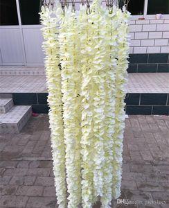 الأوركيد البيضاء الاصطناعي الوستارية فاين زهرة 2 متر اكاليل الحرير طويل على خلفية مناسبات الزفاف اطلاق النار 30PCS الدعائم / الكثير