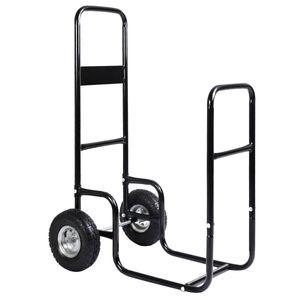 Carrier leña de madera Mover transportista del Fuego rack carrito carro del carro del balanceo