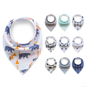 baby INS Fox baby bandana bibs with double layer for Infant cloth INS Triangle Bibs newborn burp cloths