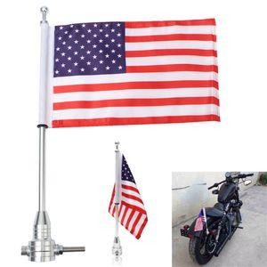 Motosiklet Amerikan ABD Bayrağı kutup Bagaj Raf Dağı 3 renk