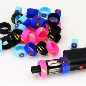 Vaporisateur Super Hero Vape Band Caoutchouc bague en silicone pour bouteille de réservoir Mod bande de silicone personnalisée vape DHL