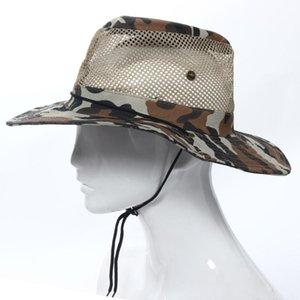Outdoor 2016 Sunshade Wholesale-Hot Fashion Cap Mesh Fishing Bucket Hat Marking N8 Hdtio