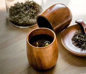 Бесплатная доставка деревянная чашка чая деревянный кубок экологичные пузатых Кубок 50шт