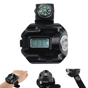 Nuevo Portable CREE XPE Q5 R2 LED Reloj de pulsera Linterna Antorcha USB Carga de la muñeca Modelo Tactical Linterna recargable
