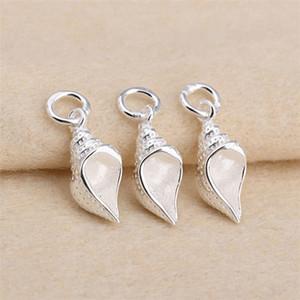S999 Sterling Silber Spirale Perle Anhänger Charms Schmuckzubehör 7x10mm Halskette Zubehör
