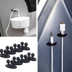 다목적 케이블 클립 자동차 카메라 충전기 라인 헤드폰 USB 핸드폰 케이블 클립 내부 액세서리 데스크탑 케이블 클립