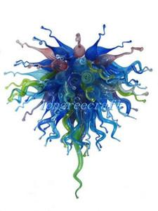 Bocca di trasporto soffiato 110v / 120v Bulbi Casa elegante Murano Glass Art Cheap lampadario lampade a LED