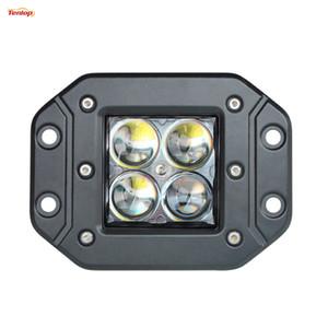 라이트 소싱 4D 렌즈 4.8 인치 크리어 40W 오프로드 트럭 폴라리스 ATV 12V 24V 작업 빛