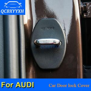 QCBXYYXH 4 Pçs / lote ABS Car Door Lock Capas Protetoras Para Audi A6 2004-2011 A4 Q3 Q5 Q7 A1 A3 A5 A7 A8 A8 2018-2018 Car Styling