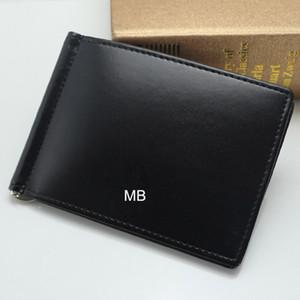 Lujo europeo popular el nuevo negocio de la moda MB billetera Hot Leather Men Wallet Short billfol Cuero genuino MB billetera.