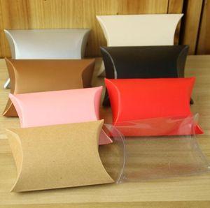 Lindo Almohada Anti-Scratch Box Sweet Boxes Wedding Party Favor Gift Cajas de Dulces galletas de merienda Boxes envío gratis