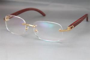 Hot Rimless Oro Legno 8200757 occhiali occhiali cornici donne Decor Legno cornice d'argento cornice d'oro in metallo vetro Eyewear C Decoration cornice d'oro