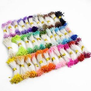 900pcs / lot Aléatoire Mixte couleurs bricolage perle fleur étamine pistil 1mm floral étamine 11010106 (900)