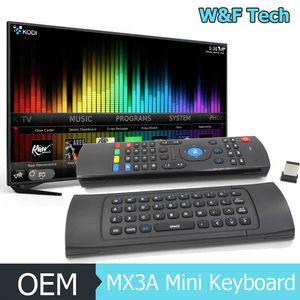 Tastiera 2.4Ghz Mini Wireless volo Air Mouse MX3A Telecomando mini tastiera per Android Box TV Stick PC