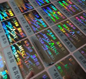 10000 adet / takım! hologram lazer etiket etiket özelleştirilmiş çizik, her etikette benzersiz KODU! ÜCRETSİZ tasarım