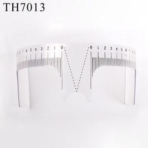 Microblading Sopracciglio Righello Plastica Sopracciglio Balance Righello Strumento per modellare Tatuaggio Accessori per stencil Trucco permanente Tatuaggio temporaneo