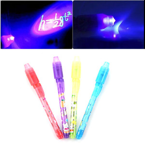 5PCS/lot School Office Drawing Magic Highlighters 2 in 1 UV Black Light Combo Creative Stationery Invisible Ink Pen Highlighter
