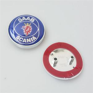 NUEVO 10 Unids / lote SAAB 68mm 93 9-3 SCANIA Bone delantero Tronco Trasero Boot Badge Emblema Para BJ SCS SAAB 2003 2004 2005 2006-2010 car styling