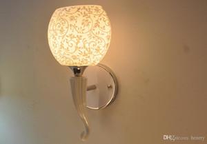 أضواء الممر الممر الحد الأدنى الحديثة. مصابيح السرير الجدار السيراميك السيراميك الإضاءة. 220V E27 E14 حامل مصباح