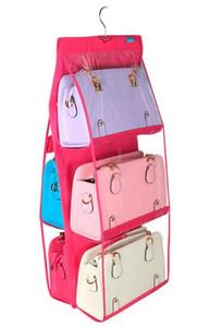 Moda Hot 6 tasche appeso borsa borsa Borsa tote bag organizer di stoccaggio armadio rack appendini 4 colori