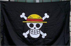 Free Shiping One Piece Straw Hat Skeleton Flag Pirata Rufy Accessorio Cosplay