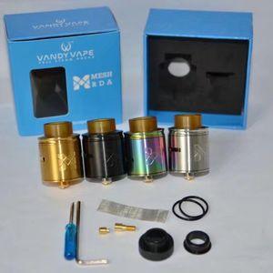 Vandyvape Mesh-RDA-Behälter kompatibel mit Mesh-Draht-Standard-Coil Invisible Clamp-Art pfosten Deck Atomizer 24mm RDA vape High Quality