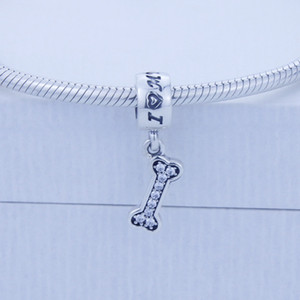 يناسب الأوروبي باندورا سحر سوار diy جعل 925 فضة الخرز الأصلي أنا أحب كلبي سحر النساء المجوهرات بالجملة 1 قطعة / الوحدة