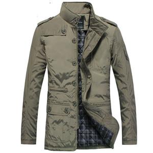 M-5XL casaco de Inverno homens casaco quente Slim fit Moda jaqueta masculina trench coat jaqueta casual homens Quente 2017 Novo
