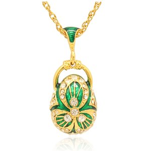 fashion cool pendant Faberge Egg necklace Hand crafted Enamel colors dangle russian style for Easter day