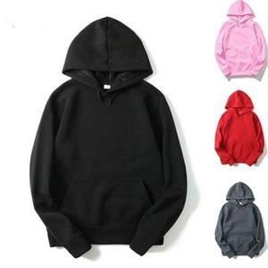 패션 후드 재미있는 단색 색상 남성과 여성 후드 Fitness Streetwear 힙합 Tracksuits 스웨터 스웨터 무료 배송